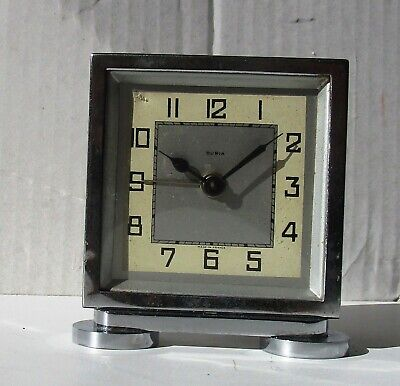 Wonderful Art Deco Chrome and Metal Alarm Clock from DURIA
