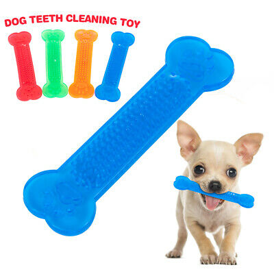 Durable Dog Toothbrush Pet Teeth Cleaning Chew Toys Rubber Bone Toy For Dogs Pet