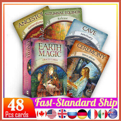 48x Cards Earth Magic Oracle Deck Future Fate Fortune Telling English Game USA