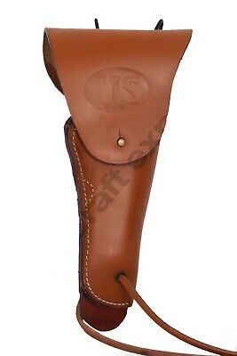 TAN LEATHER US ARMY M1916 COLT .45 PISTOL AND HOLSTER M1911  Left Hand