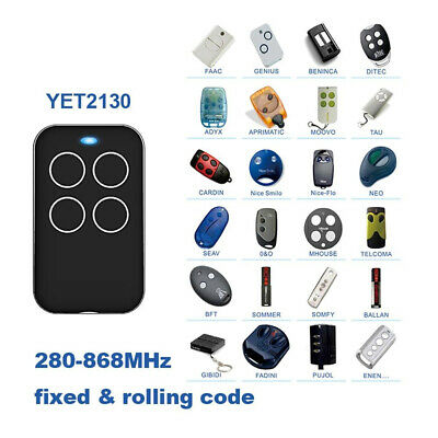 Learning Garage Door Wireless Transmitter Multi-frequency Remote Control