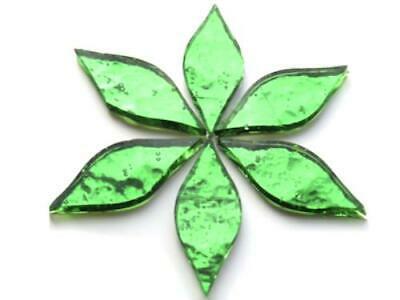 Green Regalia Mirror Petals - Mosaic Tiles Supplies Art Craft