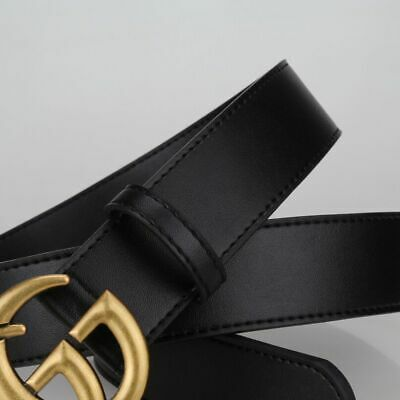 UK New Fashion Ladies Men Genuine Leather Belts Women Jeans Belt With G Buckle A