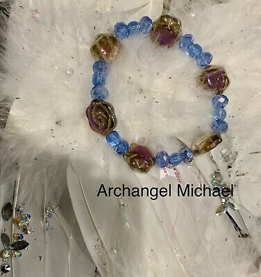 Code 598 Archangel Michael Aura Bracelet Doreen Virtue Certified Titanium Crysta