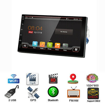 """7""""1 Din Android 9.0 HD Auto Octa-Core-MP3-MP5-Player GPS Navi TPMS SWC Bluetooth"""