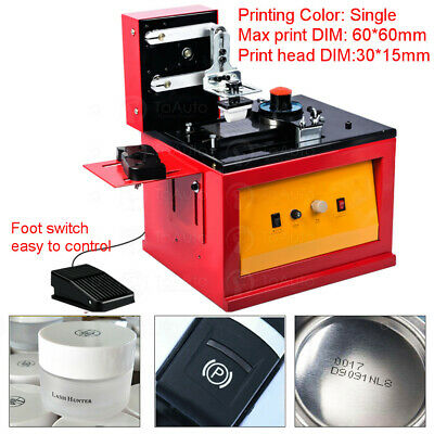Electric Pad Printer Printing Machine for Logo, trademark, barcode, Batch, Date