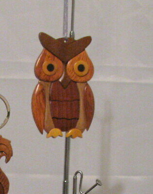 NATURAL COLOR HARDWOOD CARVED INTARSIA WOOD ORNAMENT BUMBLE BEE