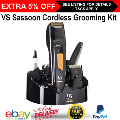 VS Sassoon Cordless Beard Shaver Trimmer Electric Mens Hair Clipper Rechargeable