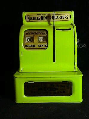 Vintage Uncle Sam's TradeMark 3 Coin Register Bank Western Stamping Corp.