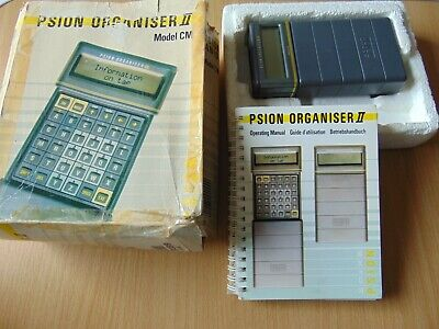 Vintage Computer Pda Psion Organiser Ii Model Cm With Instruction Book Working