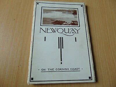 SCARCE 1920's GUIDE BOOK NEWQUAY CORNWALL WITH LOTS OF ADVERTS