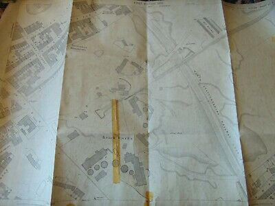 Antique Ordnance Survey Map 1879 North Stafford Railway Pottery Factory