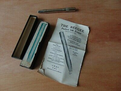 Unusual Beegee Perfect Ink Pen Eraser Boxed