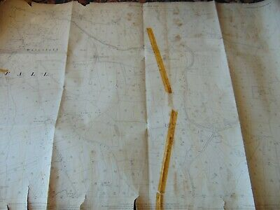 Antique Ordnance Survey Map 1899 Waterfall Pike Low Stafford