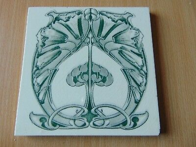 ANTIQUE VICTORIAN 19th CENTURY CERAMIC TILE ART NOUVEAU
