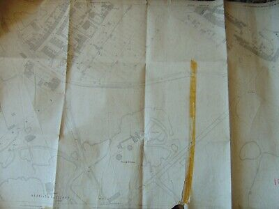 Antique Ordnance Survey Map 1923 Stoke On Trent Oldfield Colliery
