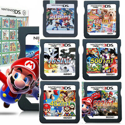 208/486/468/482/500/502 IN1 Game Cartridge For Nintendo NDS NDSL 3DS LL/XL NDSI