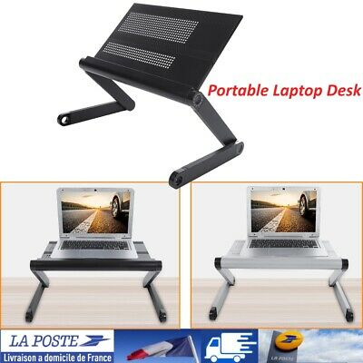Bureau d'ordinateur portable pliable reglable Table Stand plateau d'ordinateu