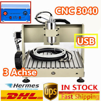 3 Axis USB CNC Router Engraver 3040 Engraving Drill Milling Wood 3D Cutting 400W