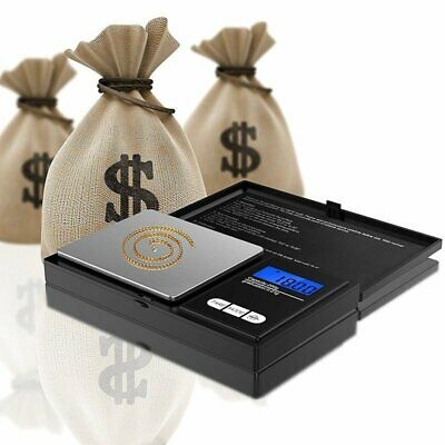 Digital Scale 0.01~500g Jewelry Gold Silver Coin Gram Pocket Size Herb Grain -AU