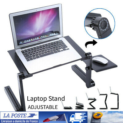Table de Lit Ordinateur Réglable pliant PC bureau d'ordinateur Portable Tablette