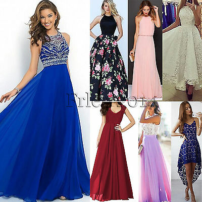Women's Formal Long Prom Evening Party Cocktail Bridesmaid Ball Gown Maxi Dress