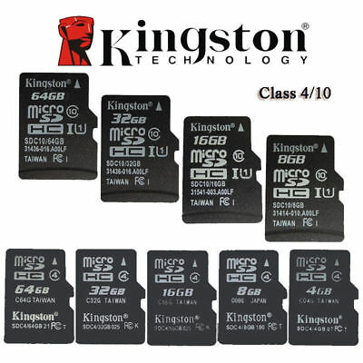 Kingston micro SD SDHC 4 Go GB 8 Go 16 Go 32 Go TF Classe 4/10 Carte Mémoire