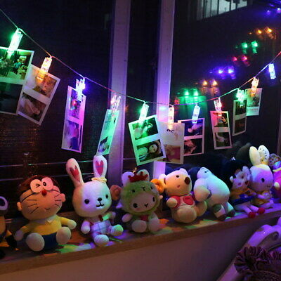 20LED Window Hanging Peg Clips LED String Lights for Photos Party Home Fairy