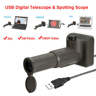 UM052 Zoom 20x Digital Telescope Scope 1000M 2M Monocular For Mac Android Tablet