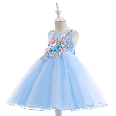 Children's Costumes Dresses Sleeveless Flower Dress Girls Pageant Princess Party