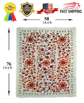 Vintage Original Handmade Tablecloth Uzbek Embroidery Wall Hanging Suzani