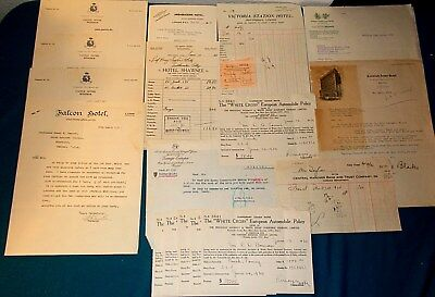 18 Vintage Travel Receipts From A Trip To EUROPE In 1930