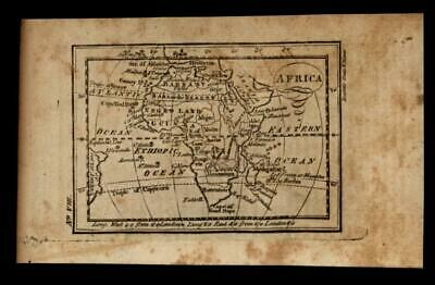 Africa continent 1796 Amos Doolittle scarce American engraved map