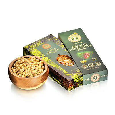 SIBERIAN Pine Nuts, Pine Kernels from Siberia, Wild Harvested, 200 g
