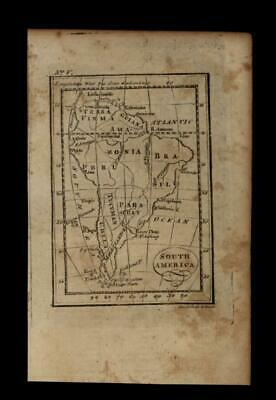 South America continent 1796 Amos Doolittle scarce American engraved map