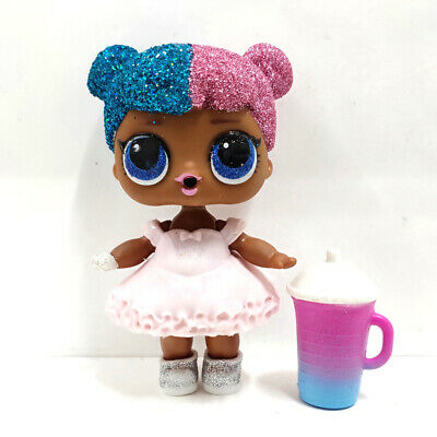 lol surprise doll Big Sister Glitter Blue Pink Hair Pink Dress Kid Birthday Gift