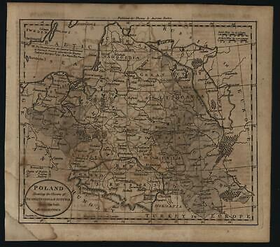 Poland Lithuania Polish Partition 1796 Amos Doolittle rare American engraved map