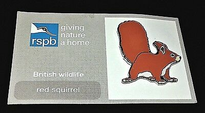 Red Squirrel R.s.p.b. Pin Badge