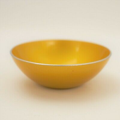 Vintage Mid-Century Yellow Emalox Norway Small Enamel Bowl