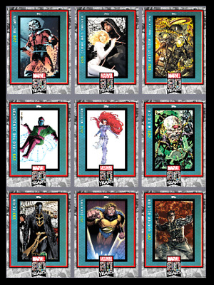Topps Marvel Collect Card Trader 80 Yrs Anniversary Variant Wave 7 - Set 9 Cards