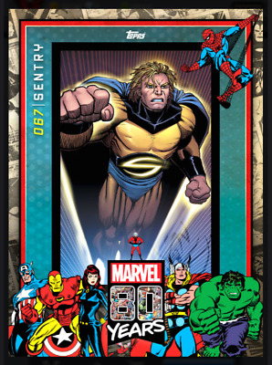 Topps Marvel Collect Card Trader 80 Years Celebration Variant Wave 7 Sentry