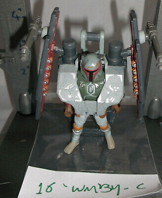 """Star Wars Loose 3.75"""" Action Figure - Deluxe Boba Fett - No Top Cannon"""