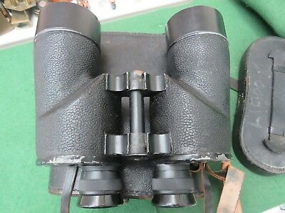 Ww 2 Canadian Navy Pair Of Rel/Canada 7 X 50 Binoculars Dated 1945 With Case