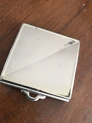 Vintage Powder Compact w/Puff and Powder Square Vanity  (14)