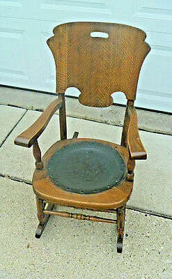 Antique Oak Rocking Chair Rocker