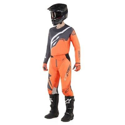 Alpinestars Techstar Factory 2019 MX / Hose / Handschuhe Anthrazit / KTM Orange