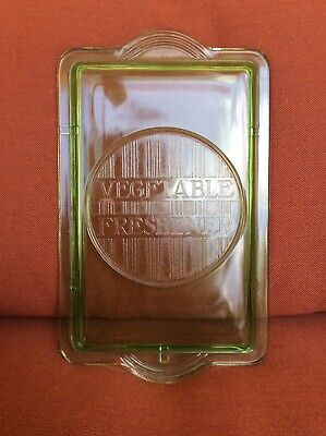 Rare X-Lg Green Depression glass  Vegetable Refrigerator Box Lid only