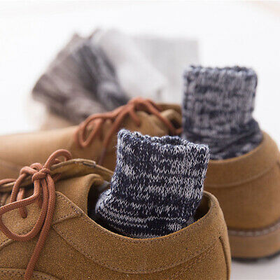 5 Pairs Men Retro Warm Cashmere Sports Warm Soft Thick Casual Winter Ankle Socks