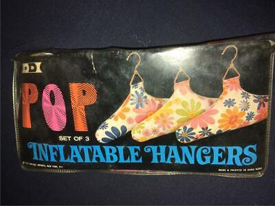 Vintage POP Set of Three Inflatable Clothes Hangers 1970
