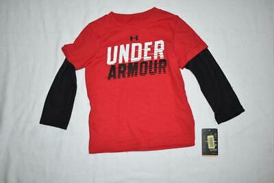 Under Armour Boys Toddler Long Sleeve T-Shirt 2T Red 27244032-60 NWT